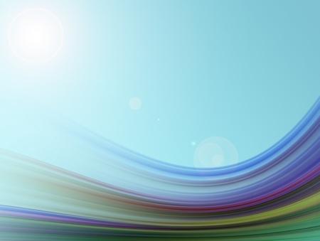 adn: Ilustraci�n de ondas de colores. Formas din�micas y abstracto