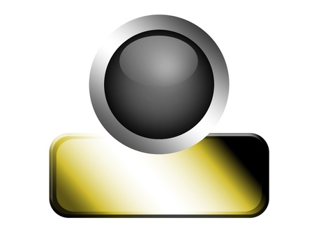 Gray sphere with gray frame with golden sheet Stock Photo - 9692892