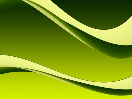 Green dynamic waves on empty background. Illustration Stock Illustration - 9692982