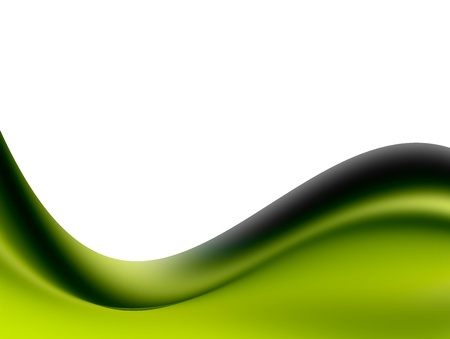 Green wave over white background. Space to insert text or design Stock Photo - 9692883