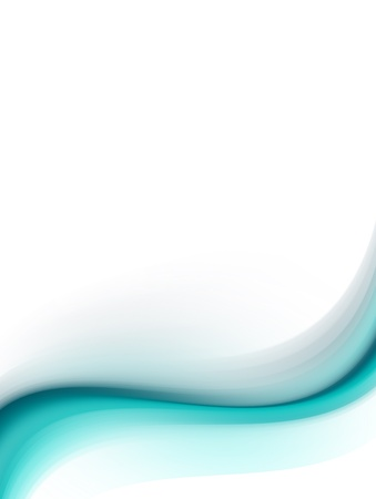 vertical banner: Blue dynamic wave with white space to insert text or design. Cool illustration Stock Photo