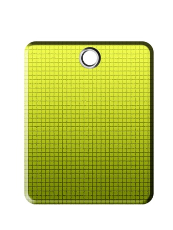 Green textured sheet on white background. Isolated illustration Stock Illustration - 9693004