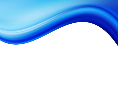 Blue dynamic wave with white space to insert text or design. Cool illustration Stock Illustration - 9692867