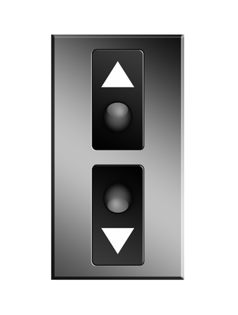 Up and down elevator buttons. Object illustration illustration