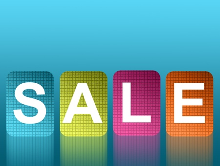 Sale colors over blue and empty background. Stock Photo - 9694172