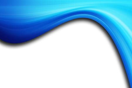 blue fire: Blue modern wave over white background. Illustration Stock Photo