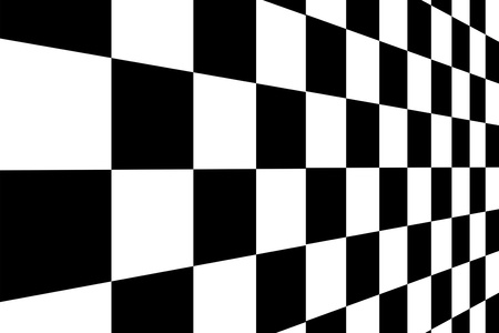 Black and white squares with perspective. Background photo