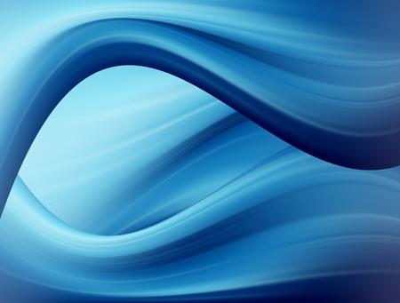 figuras abstractas: Fondo de ondas din�mico de azul y blanco. Ilustraci�n abstracto Foto de archivo