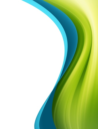 Green and blue dynamic wave over white background Stock Photo - 9693408