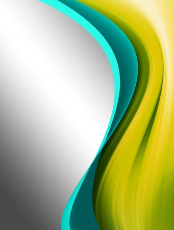 Green and blue dynamic wave over chrome background  Stock Photo - 9693743