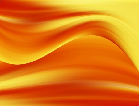 Yellow and orange waves background. Abstract illustration Stock Illustration - 9693678