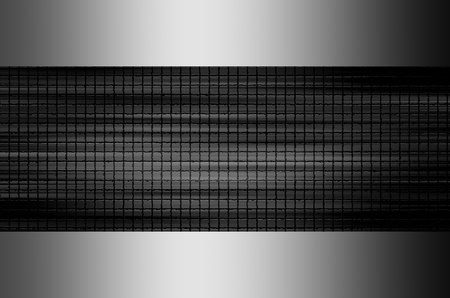 aluminium texture: Black texture with chrome frame. Abstract background Stock Photo