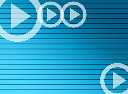 Blue lines with arrow shapes. Business background photo