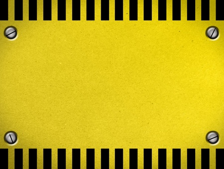 Caution  Sheet of colors yellow and black. Illustration  illustration