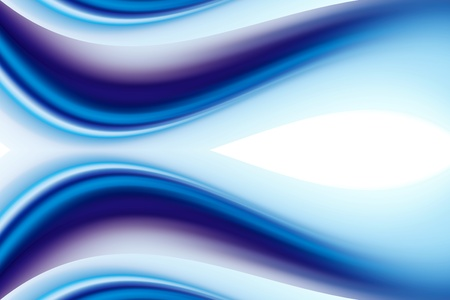 Blue and purple  dynamic waves over white background photo