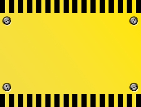 Yellow and black sheet in sign of caution.Illustration  illustration