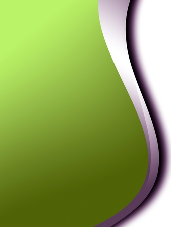 Green and chrome dynamic waves over white background