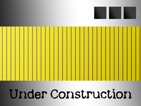 Yellow and chrome under construction advertisement for web sites Stock Photo - 9693828