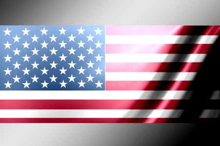 United states of america flag with chrome borders Stock Photo - 9693302