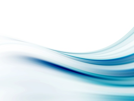 Blue soft curves over white background. Illustration Stock Illustration - 9693377
