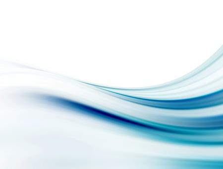 Courbes douces bleues sur fond blanc. Illustration