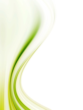 green wave: Green dynamic and soft waves over white background
