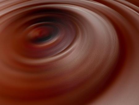 chocolate swirl: Chocolate on swirl shape. Food image. Illustration Stock Photo