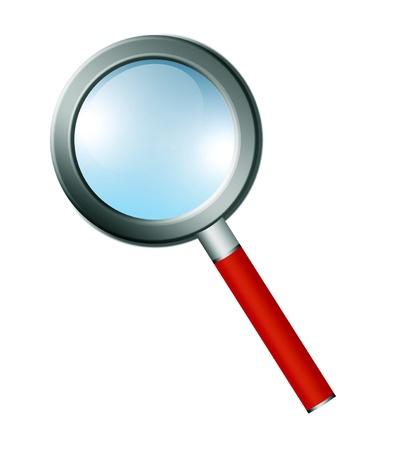Magnifying glass illustration. Isolated image. Orange and blue colors Stock Illustration - 9693091