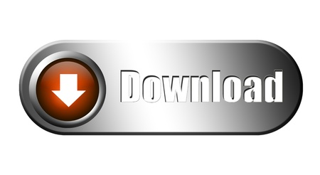 Orange and chrome download button. Modern illustration Stock Illustration - 9693273