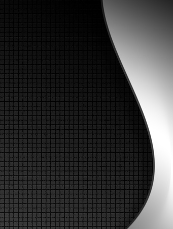 square sheet: Chrome waves over black texture. Abstract illustration