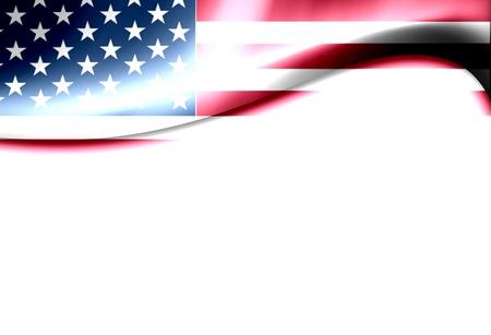 america flag: United States of america flag wave. Dynamic  illustration Stock Photo