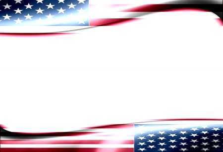 Usa wave flag with white space to insert text or design Stock Photo - 9693385