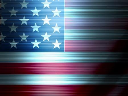 effets lumiere: Illustration de drapeau USA, avec des effets de lumi�re, Illustration