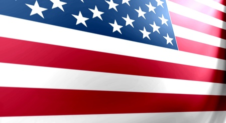 perpective: United states flag with perspective, bars and stars Stock Photo