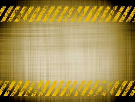 Old caution texture with yellow lines, Space to insert text or design photo