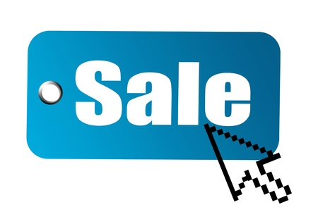 Sale advertisement with arrow pointer of compueter mouse Stock Photo - 9693226