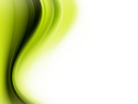scroll background: Green dynamic waves over white background. Illustration