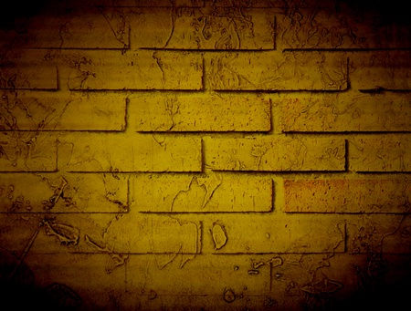 Old bricks wall, brown vintage style. Illustration illustration