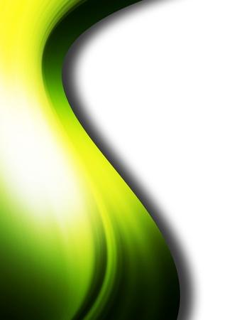 Green luminous wave on white background, Dynamic illustration Stock Illustration - 9693401