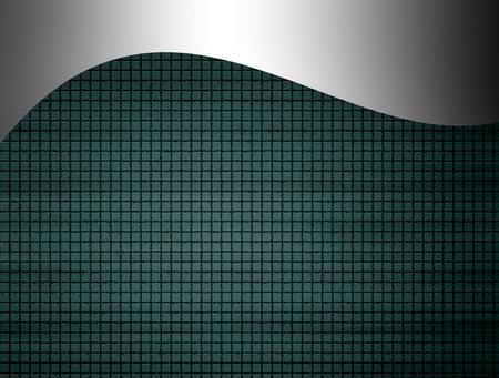 Blue textured surface with chrome wave. Illustration Stock Illustration - 9696719