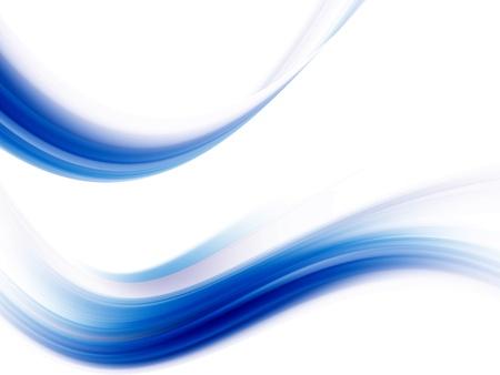 Vagues dynamiques bleus sur fond blanc. Illustration