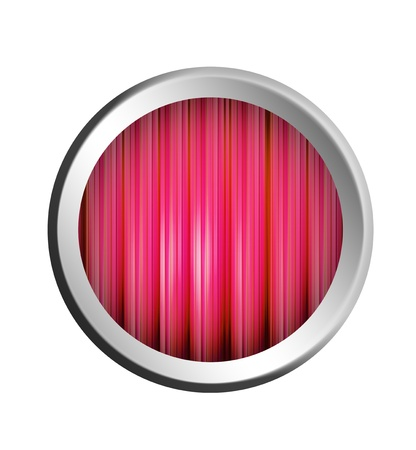 Red button with chrome frame, Empty illustration to insert text or design illustration