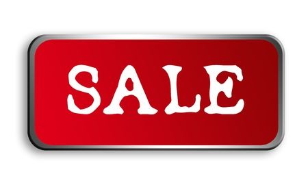Sale advertisement with chrome frame over white background Stock Photo - 9693162