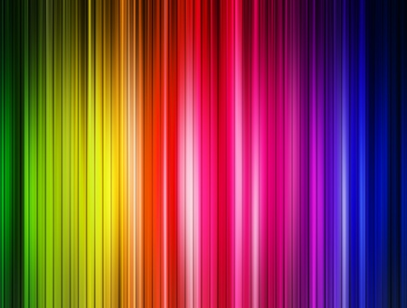 Background blue, green, purple and red lines. Abstract illustration Stock Illustration - 9694130