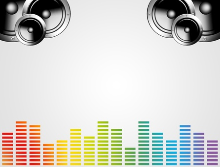 Chrome speaker. Mucis concept and equalizer colors Stock Photo - 9693705