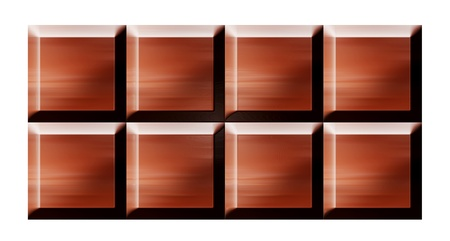 deliciously: Chocolate bars over white background. Illustration