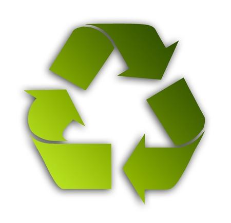 Green recycle symbol over white background. Illustration Stock Illustration - 9693169