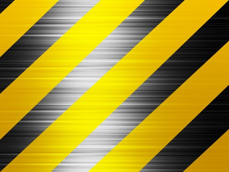Yellow and black horizontal lines, Warning background Stock Photo - 9696752