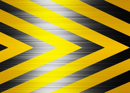 Yellow and black lines, warning background. Illustration Stock Illustration - 9696729