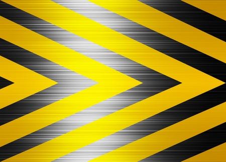 Yellow and black lines, warning background. Illustration Stock Illustration - 9696729